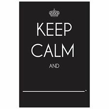 Wallies Peel and Stick Keep Calm And…Chalkboard Wall Decal, 12-inch x 18-inch