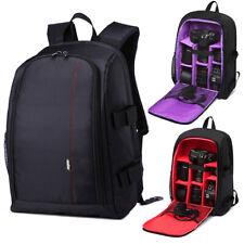 Large Camera Backpack Laptop Dslr Bag Case Soft Padded Universal for Canon Nikon