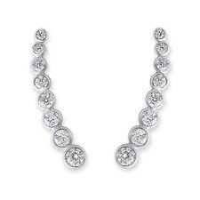 Cubic Zirconia Cuff Fashion Earrings