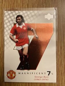 George Best Manchester Utd 2001 Upper Deck Magnificent 7. M2 Mint.