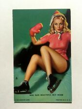 1940s Pin Up Girl Picture Mutoscope Blonde Ice Skater Falling Beautiful But Numb