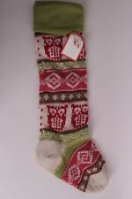 NWT Pottery Barn Kids Fair Isle Owl Christmas stocking *no monogram