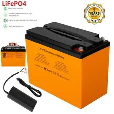 LiFePO4 12.8V 42AH Battery for RV Leisure Marine Boat Caravan Camping + Charger