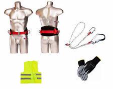 Haltegurt Halteseil Handschuhe Weste Absturzsicherung Auffangschutz Fallschutz