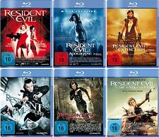 6 Blu-rays * RESIDENT EVIL 1-6 KOMPLETT SET - Milla Jovovich ~ FSK 18 # NEU OVP+