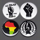 BLACK PANTHER PARTY pinback button set civil rights Africa protest fist BLM