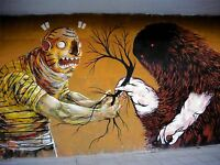 ART PRINT POSTER PHOTO GRAFFITI MURAL STREET ART TREE TRADE NOFL0353