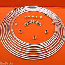 "Copper  Brake Line Tubing Kit 3/16"" O.D. x 25 ft  w  20 FITTINGS  UNIONS & NUTS"