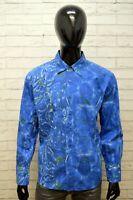 Camicia Uomo Just Cavalli Taglia 50 Maglia Camicetta Blu Polo Shirt Man Casual