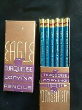 Set of 3 Vintage Eagle Turquoise Drawing Leads 5B 6B 5H Made in USA