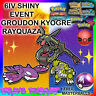 ✨SHINY✨ 6IV GROUDON KYOGRE RAYQUAZA EVENT Pokemon Ultra Sun and Moon ORAS XY 3DS