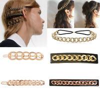 Fashion Gold Metal Hair Clip Hairband Comb Bobby Pin Barrette Hairpin Headdress
