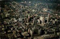 CANADA Kanada Montreal Quebec 1967 Aerial View Downtown Postkarte mit Briefmarke