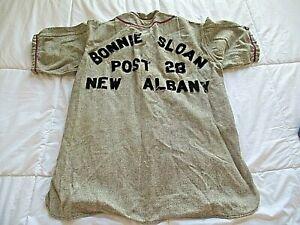 1950's Antique Baseball Uniform Bonnie Sloan American Legion Post 28 New Albany