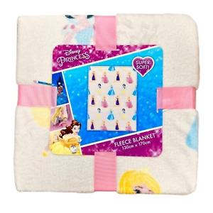 Disney Princess Fleece Blanket Throw Bedding Cinderella Girls Kid Xmas Child