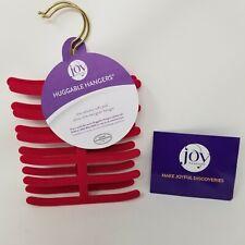 Joy mangano Huggable hangers tie scarf velvet pink red closet organizer 2 piece