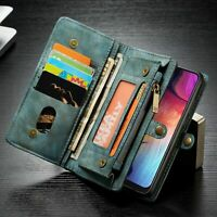 Detachable Zipper Leather Flip Wallet Case Cover Fr Samsung A20 A30 A40 A50 A70