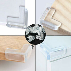 4x Clear Rubber Furniture Edge Table Corner Cushions Guard Protector Baby Safty