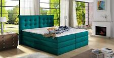 Box Spring Bed Design Topper Double Upholstered with Storage -