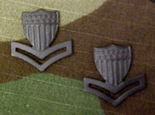 TWO AUTHENTIC US COAST GUARD 2ND CLASS PETTY OFFICER PO2 E5 HAT BLACK COLLAR PIN