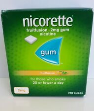 nicorette fruitfusion 2mg gum nicotine 210 pieces