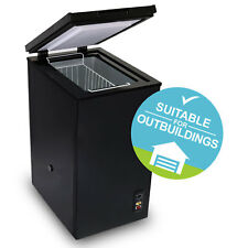 SIA CHE60BL 43cm Slimline Freestanding Black 61L Chest Freezer A Energy Rating