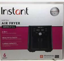 New listing New Instant Pot Vortex 6 Quart 4-in-1 Vortex Air Fryer Black Healthy 1700W 120V