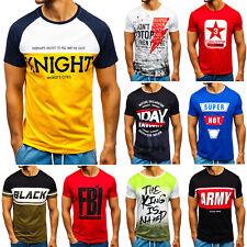 T-Shirt Tee Rundhals Kurzarm Aufdruck Classic Print Herren Mix BOLF 3C3 Motiv