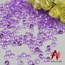 1000pcs x 4.5 mm VIOLA wedding Tavolo Spargere Acrilico Cristalli Decorazione Diamante