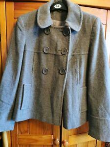 Ladies Grey Smart Coat Size 12 Jacket