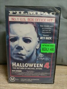 HALLOWEEN 4 The Return of Michael Myers -  VHS VIDEO