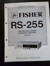 ORIGINALI service manual Fisher AM/FM STEREO Sintetizzatore Digitale Ricevitore rs-255
