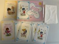 """Vintage Greeting Card Lot + Envelopes + Box """"Happy Wishes"""" Get Well"""