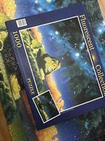 """1000 Piece Jigsaw Puzzle LION """"SAHVANA"""" Fluorescent Collection Clementoni - read"""