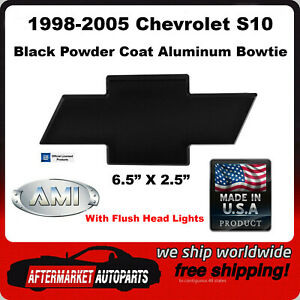 1998-2005 Chevrolet S-10 Black Powder Coat Bowtie Grille Emblem AMI 96041K