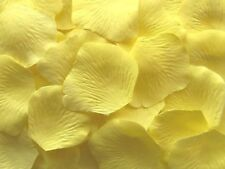 100 LEMON SILK  ROSE PETALS  ENGAGEMENT~WEDDING~BIRTHDAY~CELEBRATIONS