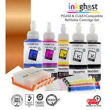 Refillable Cartridges for CANON MG6460 MG6660 IP7260 IX6860 PGI650 CLI651 PGBK