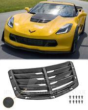 CARBON FIBER Hood Vent Louver Cover For 14-19 corvette c7 z06 GM Factory Style