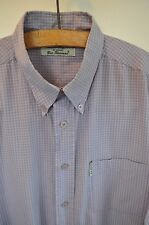 Ben Sherman purple check short sleeve shirt size XL casual mod skin