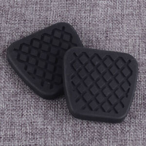 2pcs Rubber Brake Clutch Pedal Cover Pad Set Fit for Honda Accord Civic Acura