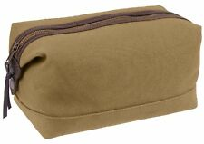 Travel Toiletry Kit Bag Coyote Brown Leather & Canvas Rothco 91260