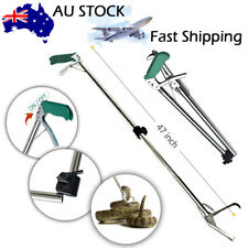 1.2m Reptile Snake Tongs Stick GRABBER Foldable Catcher Wide Jaw Tool Heavy Duty