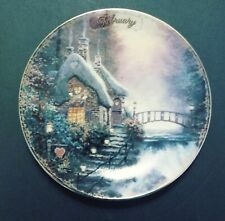 Limited Edition Collector Plate By Thomas Kinkade February Sweetheart Cottage Ii