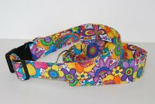 "1.5"" Large Snap Dog Collar 60's Bellbottoms"