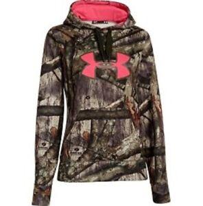 Women's Under Armour Camo Big Logo Semi Fitted Fleece Hoodie - Size S
