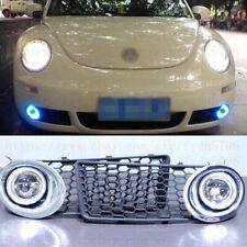 2x LED DRL Daytime Fog Lights Projector+angel eye kits For VW Beetle 2007-2010