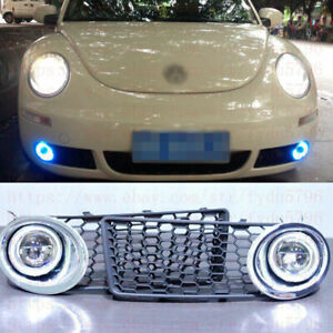 2x LED DRL Daytime Fog Lights Projector+angel eye kits For VW Beetle 2007-2010