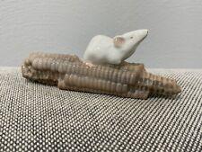 Vtg Royal Copenhagen Denmark Porcelain Figurine 512 Mouse on Corn Cob Nielsen