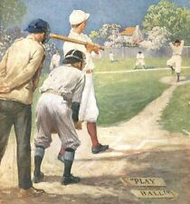 1925 baseball print + women's hockey SAXOPHONE St. Nicholas magazine, nice color