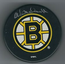 AUTOGRAPHED AB MCDONALD Boston Bruins  Hockey Puck